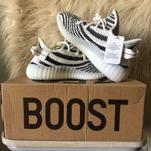 Yeezy Zebra Boosts 350